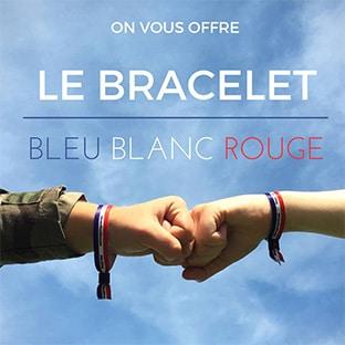 Bracelets bleu-blanc-rouge gratuits offerts par l'Armée de Terre