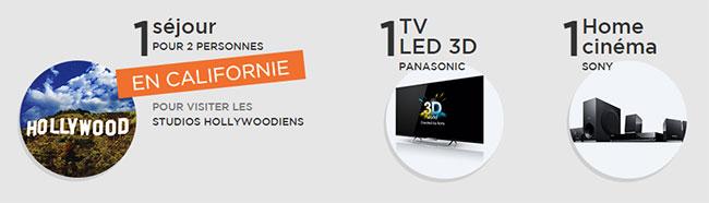Les tirages au sort du jeu La Poste : Voyage, TV 3D et Home Cinéma à gagner
