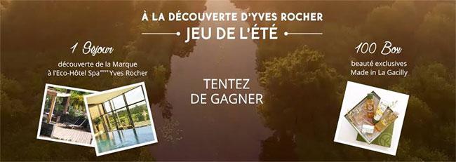 remportez une box beauté ou un séjour à l'Eco-Hôtel Spa Yves Rocher