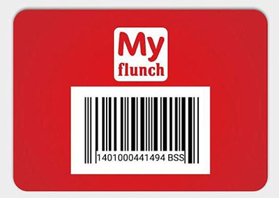 Carte Myflunch sur l'application gratuite
