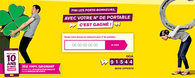 Jusqu'à 120 mois de forfait La Poste Mobile gratuit