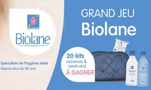 Jeu Yves Ponroy : 20 kits vacances Biolane à remporter