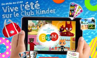 Jeu Vive l'été sur le Club Kinder : 1160 cadeaux à remporter