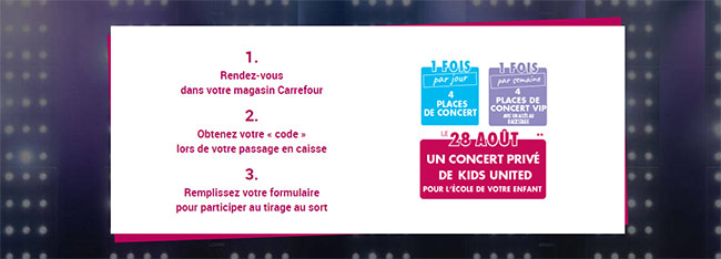 Comment participer au jeu Kids United à code Carrefour ?