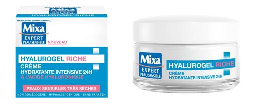 Testez gratuitement Hyalurogel Crème Riche de Mixa