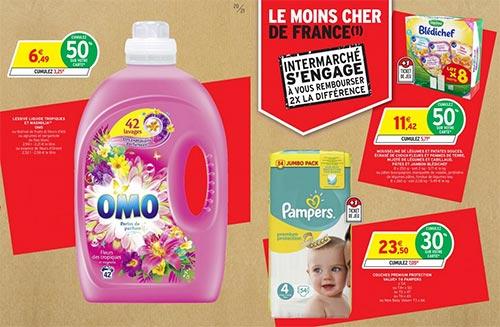 Promo Intermarché = 1,34€ le bidon de lessive Omo