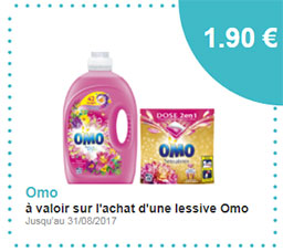 Bon de réduction lessive Omo