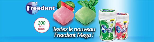 testez gratuitement les Freedent Mega