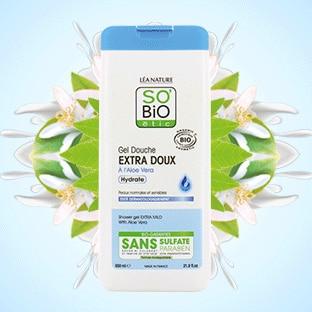 Test SO'BiO étic : 100 gels douche Extra Doux Aloe Vera gratuits
