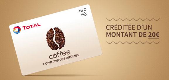 Bon plan Carte Café Total préchargée de 20€