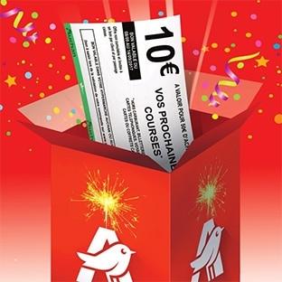 Anniversaire Auchan : Bon d'achat de 10€ offert