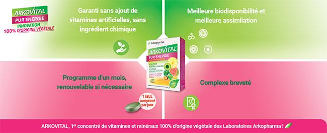 Testez la cure vitaminée Arkovital Pur'Energie