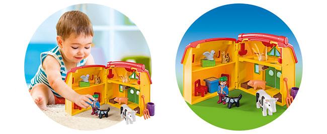 gagnez l'une des fermes transportables Playmobil 1.2.3