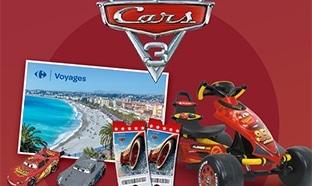 Jeu Carrefour : 142 cadeaux Cars et 1 séjour à Nice à gagner