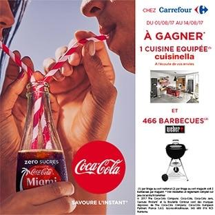 Jeu Coca-Cola Carrefour : 1 cuisine et 466 barbecues Weber