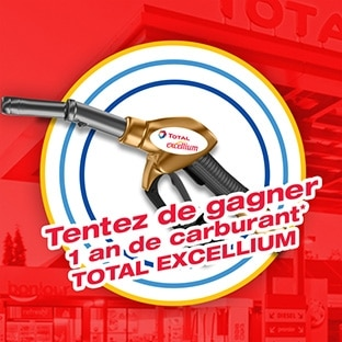 Jeu Total Excellium : 1 an de carburant et 100 pleins à gagner !