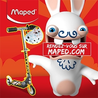 Achat Maped = Caques / trottinettes Lapins Crétins offerts
