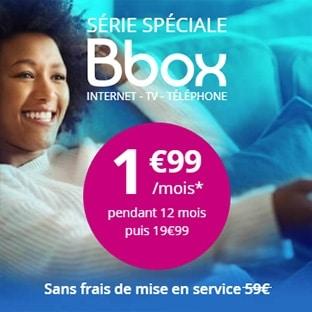 Bouygues Bbox Série spéciale : Abonnement ADSL 1,99€ / mois