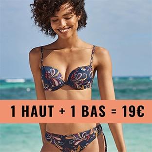 dac5345060 Bon plan Soldes Etam : Maillots de bain 2 pièces à 19€