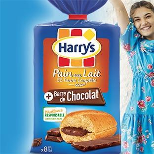 Test Pain au Lait + Barre de Chocolat Harrys : 100 gratuits