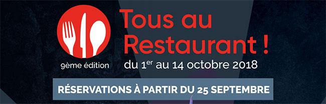 Date de réservation Tous au restaurant