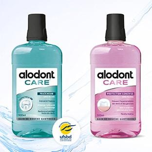 Échantillons gratuits de bains de bouche Alodont Care