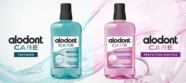 Doses d'essai de bains de bouche Alodont Care