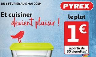 Auchan : Vignettes Pyrex et collecteur pour plats à 1€ !
