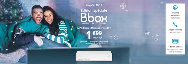forfait Bbox à 1,99€ de Bouygues Telecom