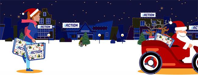 cadeaux jeu Action de Noël
