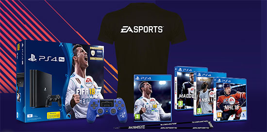 Console PS4 Pro FIFA 18, manettes... à gagner
