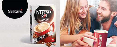 Testez gratuitement les sticks de café au lait Nescafé 2en1