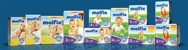 Recevez gratuitement un échantillon de couches Molfix pour bébé