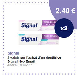 Coupon de réduction Signal