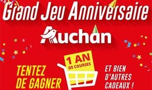 Jeu Anniversaire Auchan en magasin (ticket) et sur internet