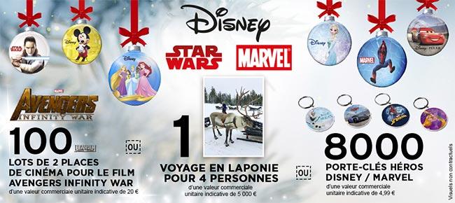 Cadeaux offerts par Disney et Intermarché