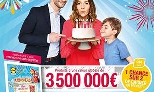 Jeu anniversaire Lidl.fr : + de 5 millions de cadeaux à gagner