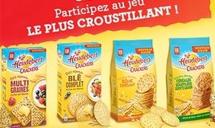 50 lots de crackers Heudebert à gagner