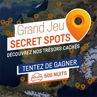 Jeu Secret Spots : 500 nuits Inter-Hotel à gagner