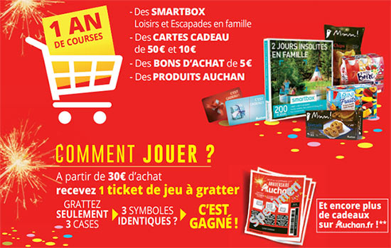 jeu anniversaire auchan en magasin ticket et sur internet. Black Bedroom Furniture Sets. Home Design Ideas