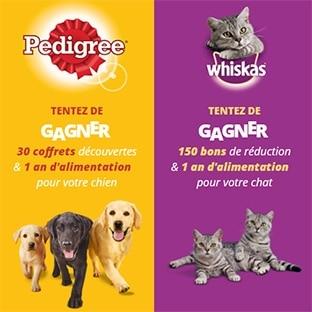 Jeu Pedigree / Whiskas : 182 cadeaux (coffrets, alimentation…)