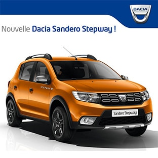 jeu renault voiture dacia sandero stepway gagner. Black Bedroom Furniture Sets. Home Design Ideas