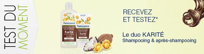 testez le duo Karité shampooing & après-shampooing Natessance