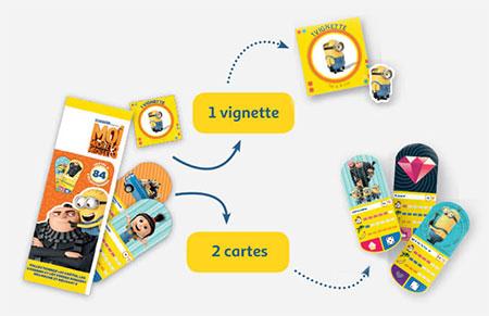 Carte Auchan Minion.Auchan Moi Moche Et Mechant Cartes Et Vignettes Offertes
