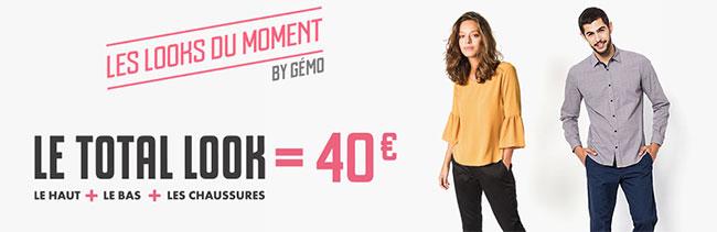 Tenue complète homme ou femme par Gémo pour 40€