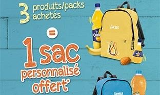 Sac personnalisé Orangina / Oasis offert pour 3 produits achetés