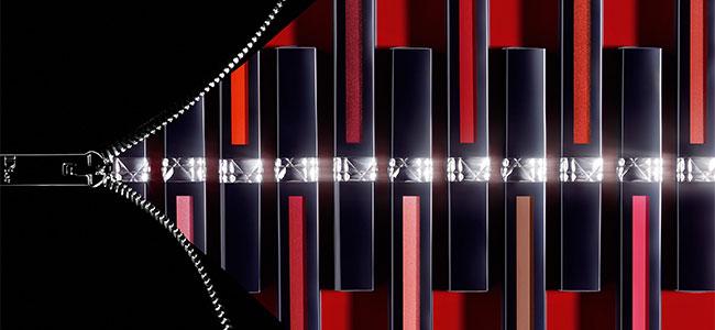 échantillon de 4 teintes de Dior Rouge Liquid