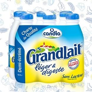 Test Candia : 3000 packs Grand Lait léger & digeste gratuits