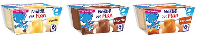 Desserts P'tit Flan de Nestlé Bébé à tester gratuitement