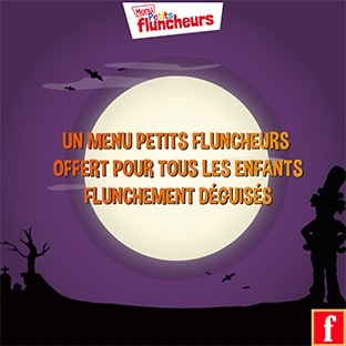 Flunch Halloween : Menu enfant gratuit pour les petits déguisés